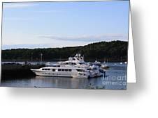 Cruiseships At Bar Harbor Greeting Card by Photographic Art and Design by Dora Sofia Caputo