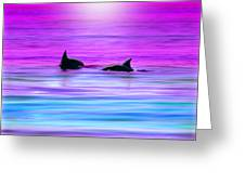 Cruisin' Together Greeting Card by Holly Kempe