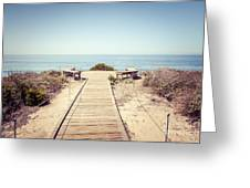 Crystal Cove Overlook Retro Picture Greeting Card by Paul Velgos