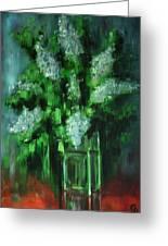 Crystal Flowers Greeting Card by George Dadiani