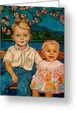 Crystal's Children Greeting Card by Kendall Kessler