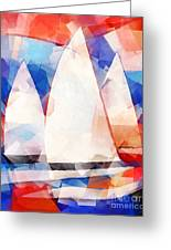 Cubic Sails Greeting Card by Lutz Baar