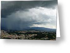 Cuenca Storm Panorama Greeting Card by Al Bourassa
