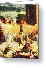 Cuisine Greeting Card by Mo T