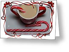 Cup Of Christmas Cheer - Candy Cane - Candy - Irish Cream Liquor Greeting Card by Barbara Griffin