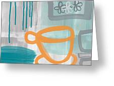 Cup Of Happiness Greeting Card by Linda Woods