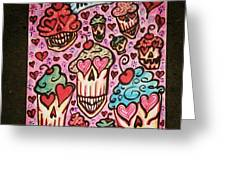 Cupcake Heads Greeting Card by Stephanie Bucaria