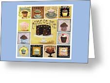 Cupcake Mosaic Greeting Card by Catherine Holman