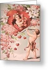 Cupid Greeting Card by M and L Creations