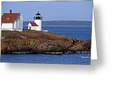 Curtis Island Lighthouse Greeting Card by Skip Willits