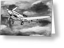 Curtiss P-40 Warhawk 2 Greeting Card by Scott Nelson