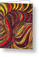 Curved Lines 3 Greeting Card by Sarah Loft