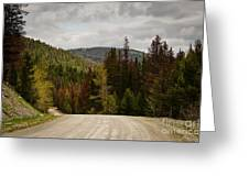 Curviing Dirt Road Greeting Card by Sue Smith