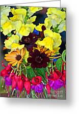 Cut Bouquet Of Beautiful Flowers Greeting Card by Valerie Garner