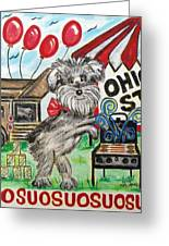 Osu Tailgating Dog Greeting Card by Diane Pape