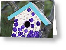 Cute Little Birdhouse Greeting Card by Carol Leigh