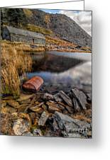 Cwmorthin Slate Quarry Greeting Card by Adrian Evans