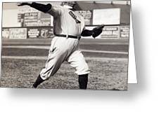 CY YOUNG - AMERICAN LEAGUE PITCHING SUPERSTAR - 1908 Greeting Card by Daniel Hagerman