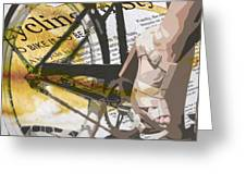Cycle Chic Greeting Card by Sassan Filsoof