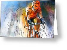 Cycloscape 01 Greeting Card by Miki De Goodaboom