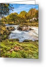 Cyfyng Falls Greeting Card by Adrian Evans