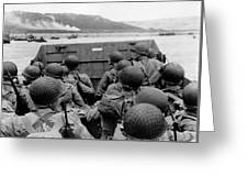 D-day Soldiers In A Higgins Boat  Greeting Card by War Is Hell Store
