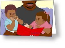 Daddy's Bundles Greeting Card by Pharris Art