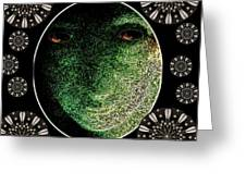 Daemon Of Stargate Greeting Card by Pepita Selles