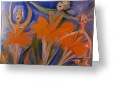 Daffodil Ballet Greeting Card by Judith Desrosiers
