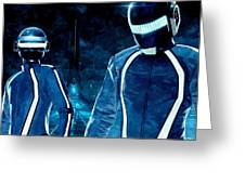 Daft Punk In Tron Legacy Greeting Card by Florian Rodarte