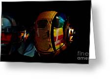 Daft Punk Pharrell Williams  Greeting Card by Marvin Blaine
