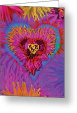 Dahlia Rainbow Greeting Card by Alixandra Mullins