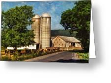 Dairy Farming Greeting Card by Lois Bryan