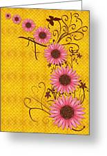 Daisies Design - S01y Greeting Card by Variance Collections