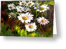 Daisies Greeting Card by Robert Carver