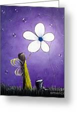 Daisy Fairy By Shawna Erback Greeting Card by Shawna Erback