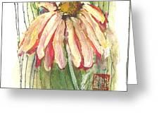Daisy Girl Greeting Card by Sherry Harradence