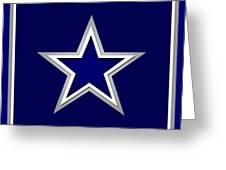 Dallas Cowboys Greeting Card by Tony Rubino