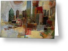 Dallas Skyline 003 Greeting Card by Corporate Art Task Force