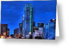 Dallas Skyline HD Greeting Card by Jonathan Davison