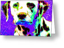 Dalmation Dog 20130125v4 Greeting Card by Wingsdomain Art and Photography