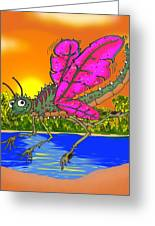 Dameon The Dragonfly  Greeting Card by Paul Calabrese