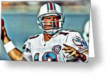Dan Marino Greeting Card by Florian Rodarte