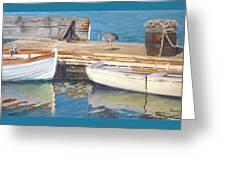 Dana Point Harbor Boats Greeting Card by Sharon Weaver