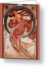 Dance Greeting Card by Alphonse Maria Mucha