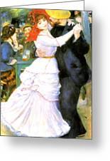 Dance At Bougival Greeting Card by Pierre Auguste Renoir