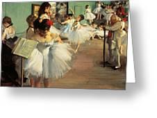 Dance Examination Greeting Card by Edgar Degas