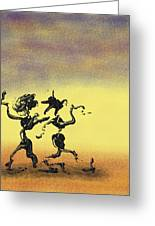 Dance I Greeting Card by Manuel Sueess