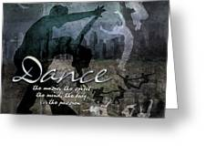 Dance Neutral Colors Greeting Card by Evie Cook