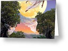 Dance of the Moon Fairy Greeting Card by Garry Walton